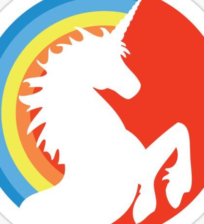 Retro Unicorn (Orange) Sticker  Sticker