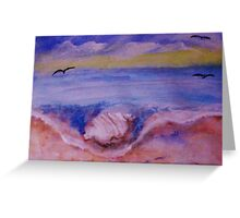 Conch shell washed up, watercolor Greeting Card