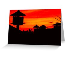 bali sunset Greeting Card