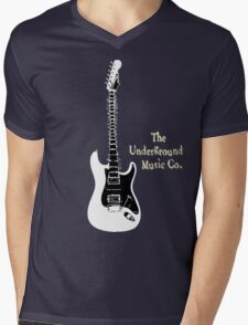 Guitar Spine Mens V-Neck T-Shirt