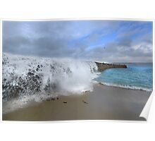 Stormwall. Sennen Cove, Lands End Poster