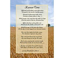 Harvest Time Scene and Poem Photographic Print