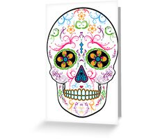 Day of the Dead Sugar Skull - Bright Multi Color Greeting Card