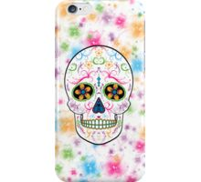 Day of the Dead Sugar Skull - Bright Multi Color iPhone Case/Skin