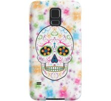 Day of the Dead Sugar Skull - Bright Multi Color Samsung Galaxy Case/Skin