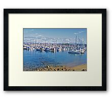 Harbor at Monterey III Framed Print