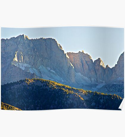 Jagged Mountain Peaks Poster