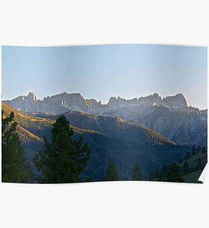 Jagged Mountain Peaks II Poster