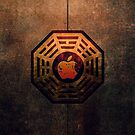 Steampunk Ying yang Dharma Apple Logo iphone 5, iphone 4 4s, iPhone 3Gs, iPod Touch 4g case, Available for T-Shirt man and woman by Pointsale store.com