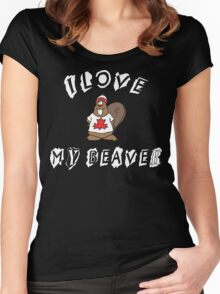 I Love Canadian Beaver Women's Fitted Scoop T-Shirt