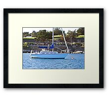 Moored in the Harbor Framed Print