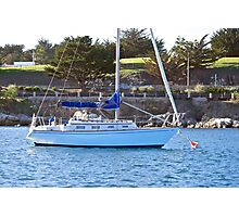 Moored in the Harbor Photographic Print