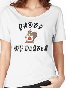 I Love My Beaver Women's Relaxed Fit T-Shirt