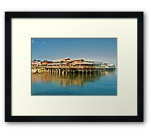 Pier at Monterey Framed Print