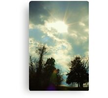 Sun Shining Through Clouds Canvas Print