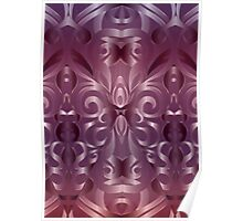 Floral abstract background Poster