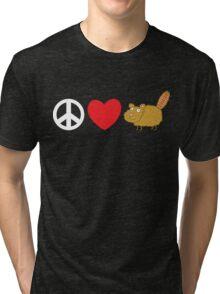 Peace Love Beaver Tri-blend T-Shirt
