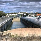 Barwon Heads (1)  A Perspective on Bridges from above. by Larry Lingard-Davis