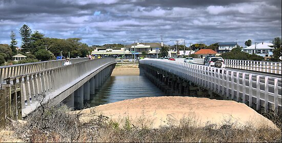 Barwon Heads (1)  A Perspective on Bridges from above. by cullodenmist