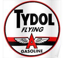 Tydol Flying Gasoline vintage sign Poster