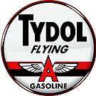 Tydol Flying Gasoline vintage sign Crystal clear by htrdesigns