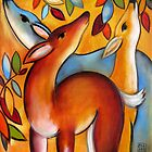 Three Deer by Louis Recchia and Zoa Ace