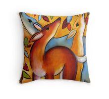 Three Deer Throw Pillow