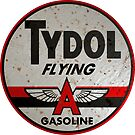 Tydol Flying Gasoline vintage sign rusted by htrdesigns