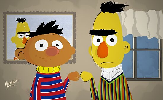 Bert and Ernie by Adam Leonhardt