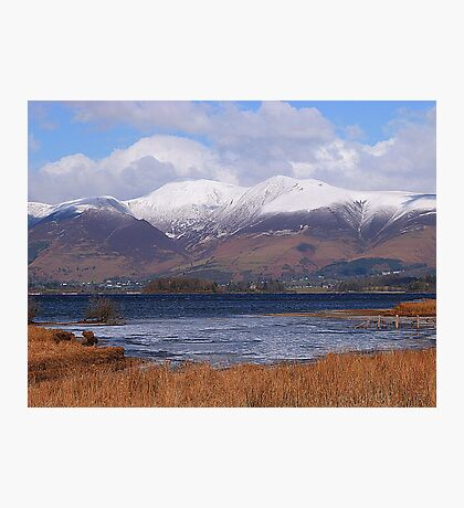 Snow Capped Skiddaw at Keswick. Photographic Print
