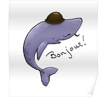 Monsieur Blue Whale is quite a gentleman Poster