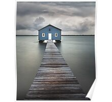 Swan River Blue Boat House Poster
