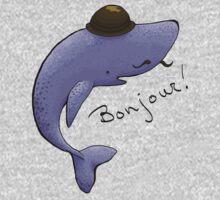 Monsieur Blue Whale is quite a gentleman Kids Clothes