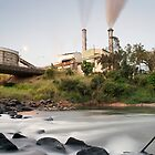 South Johnstone Sugar Mill and River - Portrait by RichardCurzon