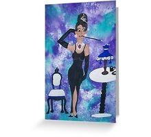 Breakfast at Tiffany's  Audrey Hepburn Greeting Card