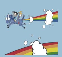 Ride The Unicorn by JonsCrazyShirts