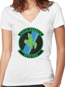 20th SOS Green Hornets Women's Fitted V-Neck T-Shirt