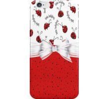Ladybug Red And White  iPhone Case/Skin