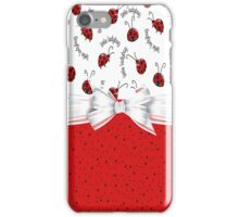 Ladybug Red And White  iPhone Case/Skin