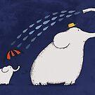 Little Umbrella Elephant by Carla Martell