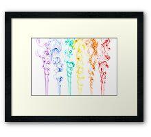 Rainbow Smoke 2 Framed Print