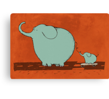 Little Skateboard Elephant Canvas Print