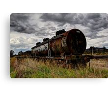 No Line Left  abandoned train carriages Canvas Print