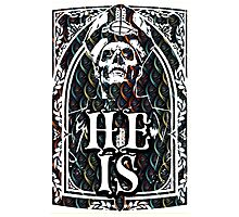 STAINED GLASS - HE IS Photographic Print