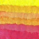 warm tone watercolor gradient by novillust
