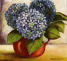 Blue Hydrangeas Sold by sandysartstudio