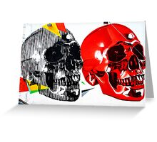 Double Skulls Graffiti - Miami Street Art Greeting Card