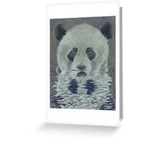 Panda in the Water Greeting Card