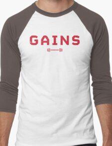 Gains. Men's Baseball ¾ T-Shirt