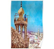 A Muezzin Calling from the Top of a Minaret the Faithful to Prayer after Jean Leon Gerome Poster